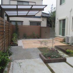 施工後 お庭
