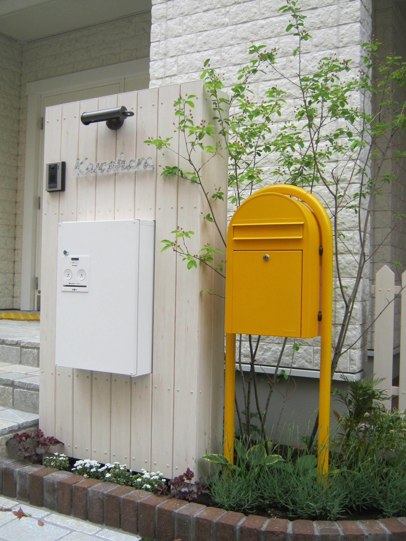 宅配ボックスを組み込んだオリジナル門塀