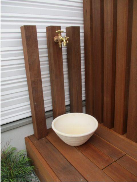 ウッド立水栓