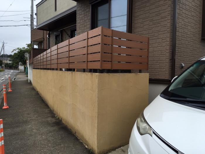 新設木樹脂フェンス