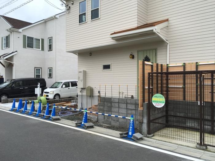 大塚山テラスの新築エクステリア工事