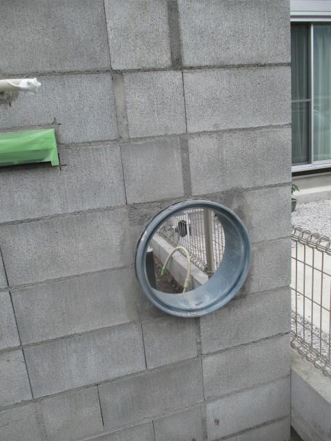 門塀 丸穴加工