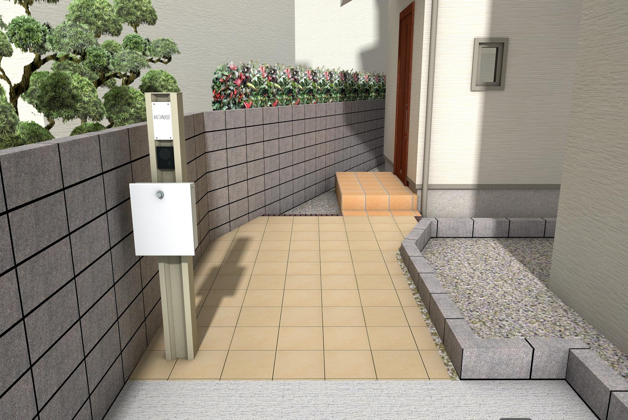 渡辺邸PLAN1パース2
