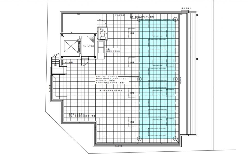 屋上庭園平面図