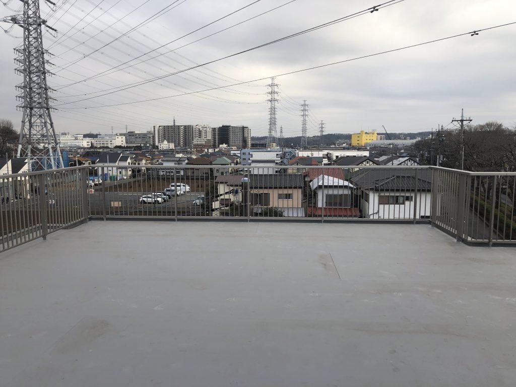 屋上レンタルスペース施工前